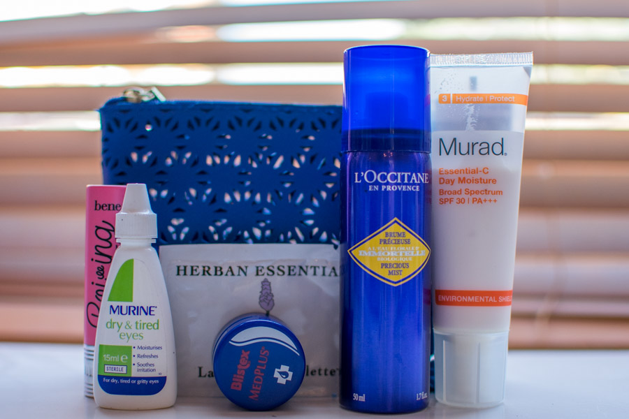 Airplane beauty essentials | Beauty Essentials for long-haul flights | Mongan Moments
