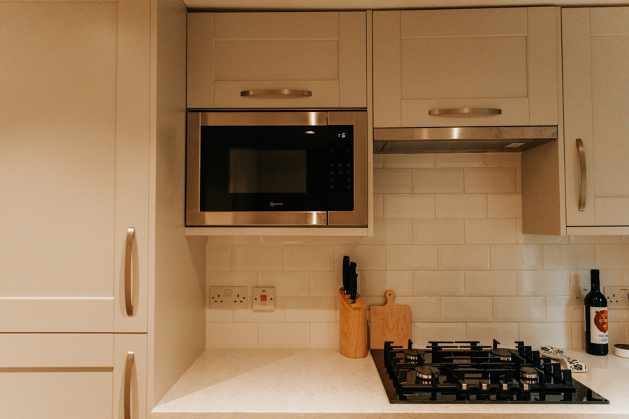 Our kitchen renovation with Howdens - John Lewis kitchen appliances - built in microwave