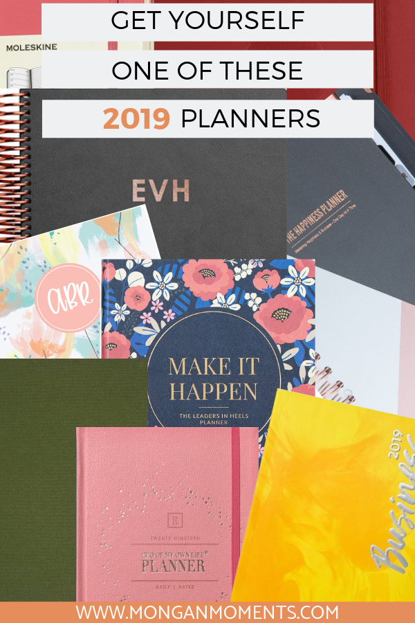 Do you have a 2019 planner to help you reach these goals? Check out these 9 stunning 2019 planners to help with organization and productivity