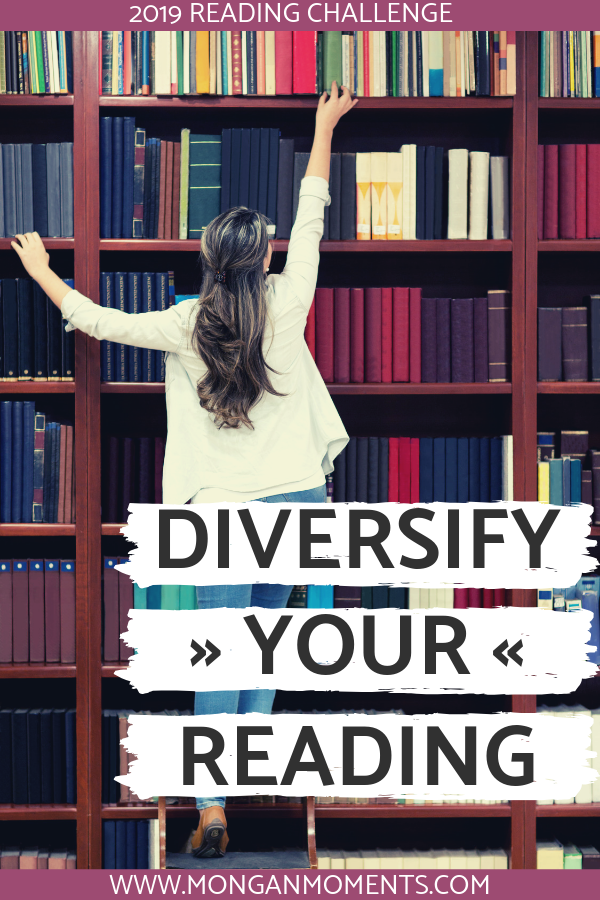 2019 Diversify Your Reading Challenge - Join this 12 book challenge to diversify your reading in 2019 #reading #books #readingchallenge #booknerd